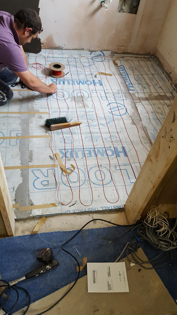 WarmUp™ underfloor heating system, specific to tiled flooring
