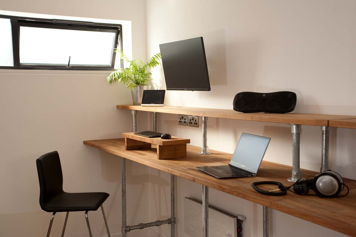 Calm workspace with natural light