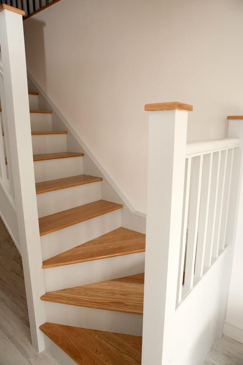 Bespoke staircase, oak treads